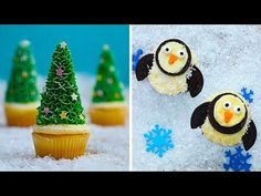 Best Christmas Cupcake Decorating Ideas of 2019 Fire Cupcakes, Penguin Cupcakes, Marshmallow Cupcakes, Marshmallow Snowman, Pull Apart Cupcakes, Christmas Cupcakes Decoration, Christmas Tree Cupcakes, Cone Christmas Trees, Christmas Desserts