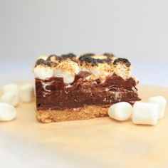 S'mores Fudge. Graham cracker crust, fluff filled creamy fudge and toasted marshmallows will make your gift receivers swoon.
