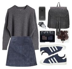 """""""///\\\"""" by klaricca ❤ liked on Polyvore featuring Burberry, adidas and NARS Cosmetics"""