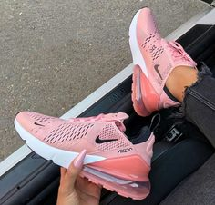 aac47a1fc97d14 Update your sneaker style with this Nike Air Max 270 Women s Shoe in pink.  One of the most popular Nike sneakers of