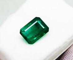 15.94 Ct Fine Natural Emerald Octagon Zambia UNTreated LooseGem Stone #RareGemIN