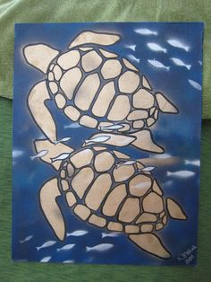 Sea Turtle Art. $20.00, via Etsy.