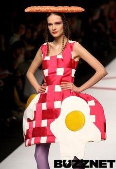 Weird & Wacky Fashion: Picnic Dress and Accessories