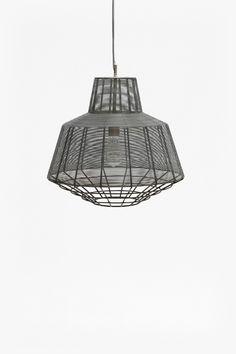 <ul> <li> Zinc-plated woven wire pendant light</li> <li> Coated steel finish</li> <li> <strong>51cm x 51cm x 47cm</strong></li> </ul>