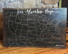 Usa Travel Map, Travel Map Pins, Picture Wire, Wooden Picture, Adventure Map, Family Adventure, Wood World Map, United States Map, Us Map