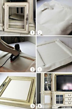 Making a cabinet into a stereo speaker cabinet via Ashley Hackshaw / Lil Blue Boo  #diy #electronics