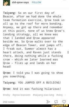 RWBY: YOU JUMPED OFF A BUILDING!