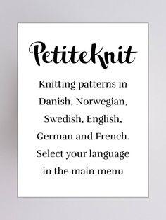 PetiteKnit  deens design