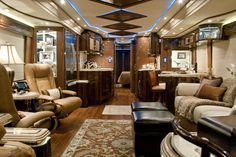 Marathon Coach Luxury rv- i could live in here forever and ever and ever