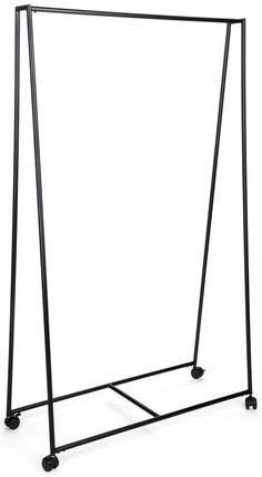 Metal Tepee Clothes Rack with Wheels - Black