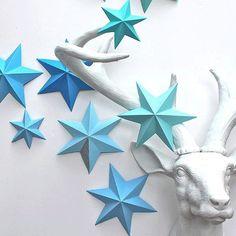 Etoiles givrées origami
