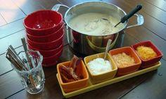 Super easy potato soup (served like a soup bar!) YUM!