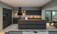 ▷ 1001 + helpful tips on how to set up your home - designing a room, modern kitchen furniture in anthracite, kitchen lighting, interior design ideas - Modern Kitchen Furniture, Modern Kitchen Design, Kitchen Interior, Kitchen Decor, Modern Kitchens, Kitchen Ideas, Kitchen Trends, Kitchen Paint, Kitchen Colors