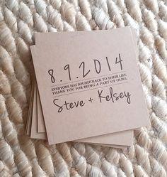 Custom Kraft CD Sleeves - Front & Back printing - CD Wedding Favors - Kraft Photography Portfolio Dvd / CD Covers - Our Love Story