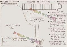 Moldes de Amanda: PIANO EN GOMA EVA (DE LA WEB)