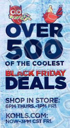 Kohl's Black Friday deals are here, and we excited to share some of the BEST ones with you!! Check these out, bookmark the page, and get your lists ready! #BlackFriday #Kohls #Christmas2014