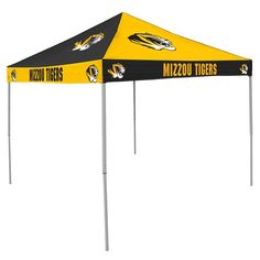 Missouri Tigers NCAA 9' x 9' Checkerboard Color Pop-Up Tailgate Canopy Tent
