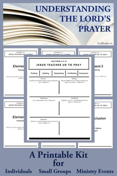 Do you or your ministry need a resource that helps you grasp the full meaning of the Lord's Prayer? This is a free, practical, and printable resource. Power Of Prayer, Lord's Prayer, Prayer Wall, Prayer Board, Scripture Cards, Bible Verses, Prayer Scriptures, Bible Prayers, Scripture Study