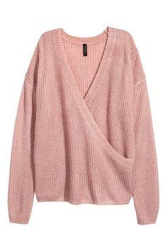 4cbf1fed235f8 Knitted wrapover jumper - Old rose - | H&M GB. Modest FashionH&m  FashionMaternity ...