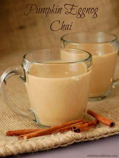 Pumpkin Eggnog Chai - A Kitchen Addiction