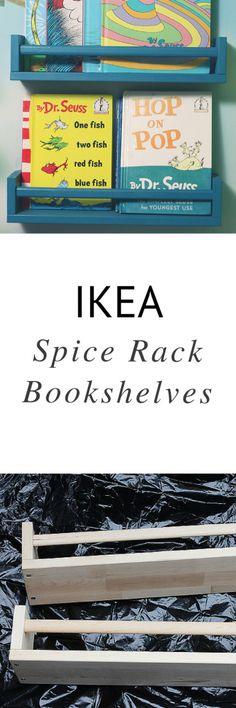 DIY - Ikea Spice Rack Bookshelves | Sophistishe.com