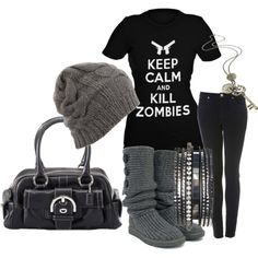I think Mike would appreciate if I wore this since he was hoping for a zombie style flash mob for his birthday