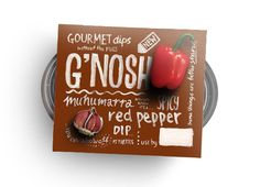 G'nosh - Gourmet dips without the fuss. The WEBSITE is BEAUTIFUL.