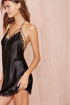 If we are doing more fashion lounge lingerie I think a satin Chemise would fit well into our product mix. It's a very relaxed piece that would obviously not be in black. A nice white with lace or one of our prints. Hot Lingerie, Lingerie Bonita, Lingerie Chic, Satin Lingerie, Pretty Lingerie, Bridal Lingerie, Luxury Lingerie, Black Lingerie, Beautiful Lingerie