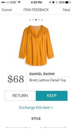 Daniel Rainn Brett Lattice Detail Top  Stitch Fix Fall 2016