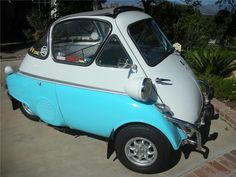 Isetta bubble car with go faster wheels