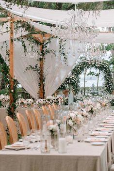 39 Wedding Tent Ideas For A Stunning Reception ❤ wedding tent greenery and white roses decor iamflowerco #weddingforward #wedding #bride #weddingtent #weddingdecor