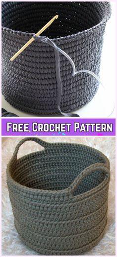 Crochet Chunky Basket Free Patterns