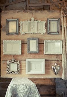 Paint eclectic picture frames a cohesive color scheme for a shabby chic seating chart