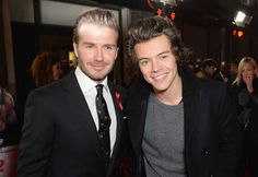 When he stood next to David Beckham and David looked like he could not physically handle standing next to someone with such beauty. | 30 Times Harry Styles Was The Most Perfect Member Of One Direction In 2013