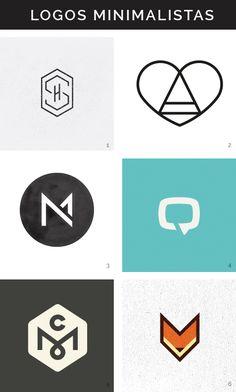 Logotipos minimalistas Hello! Creatividad
