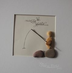 "Picture pebbleart ""Im Traum"" Artwork Decoration Gift - nursery - babyshower…"