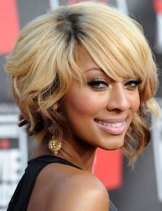 Beautiful Photos Collection of Short Bob Hairstyles of Keri Hilson. Also find more Short Bob Hairstyles Collections. Inverted Bob Hairstyles, Asymmetrical Hairstyles, Curly Bob Hairstyles, Hairstyles For Round Faces, Short Curly Hair, Short Hair Cuts, Curly Hair Styles, Blonde Hairstyles, Bob Haircuts