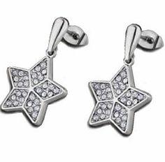 #Pendientes de #acero con #circonitas Belly Button Rings, Jewelry, Steel, Earrings, Jewlery, Jewerly, Schmuck, Jewels, Belly Rings