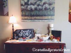 Biscuit bar! Woodland Fox Baby Shower! Baby boy baby shower. Baby shower.  www.cordiallycourt.com