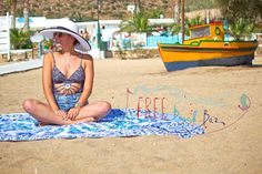 New Drone Shots at Mylopotas Beach on Ios Island - Freebeachbar Lounge Bar and Restaurant Beach Mat, New Drone, Beaches, Greece, Ios, Outdoor Blanket, Lounge, Restaurant