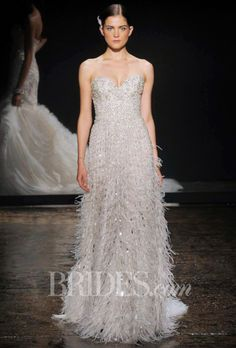 lazaro wedding dresses fall bridal runway shows brides