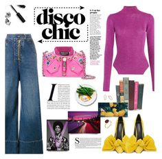 """Disco Chic"" by chocohearts08 ❤ liked on Polyvore featuring Thierry Mugler, E L L E R Y, Bobbi Brown Cosmetics and Moschino"
