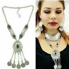 Nwt Beautiful Bohemian/Exotic Coin Necklace