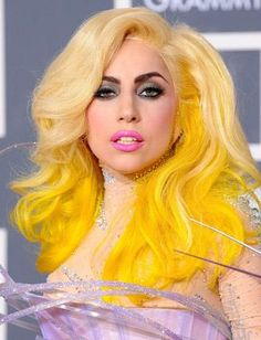yellow ombre hair