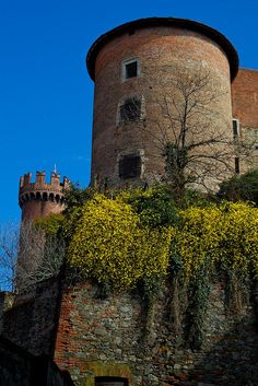 Castle, Ivrea, Italy was built in bricks by Amadeus VI of Savoy.  Interesting that it wasn't stone which was typical for those who could afford it.