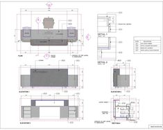 Library reception desk plan- sections- elevation and typical details for clear understanding and finishes details. Hotel Reception Desk, Modern Reception Desk, Reception Desk Design, Lobby Reception, Reception Layout, Hotel Room Design, Lobby Design, Interior Design Presentation, Office Interior Design