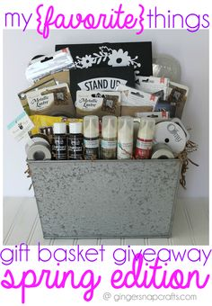My Favorite Things #giveaway & #bloghop at GingerSnapCrafts.com