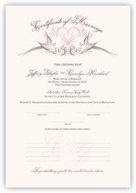 Lovebirds Birds and Butterflies Wedding Certificates