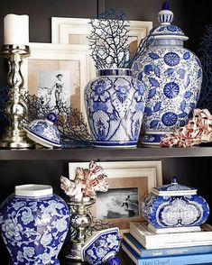 Monday Morning Blues...  ...and whites!  We carry a range of blue and white ginger jars vases and lamps in our Alexandria store perfect for those chinoiserie shelfie vignettes!  We think that everything looks better with blue and white do you?  See you in store!  OPEN 7 DAYS | 38 Burrows Rd Alexandria  www.canalside.com.au  Image via @pier1 on Pinterest #furniture #canalsideint #canalsideinteriors #Sydney #Alexandria @canalsideint