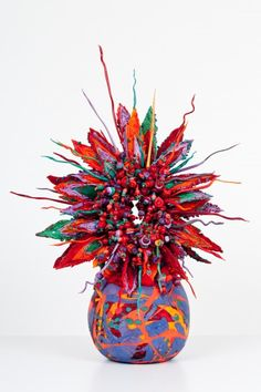 FLOWER VASE, Laura Donefer, Colored glass, Duncan McClellan Gallery
